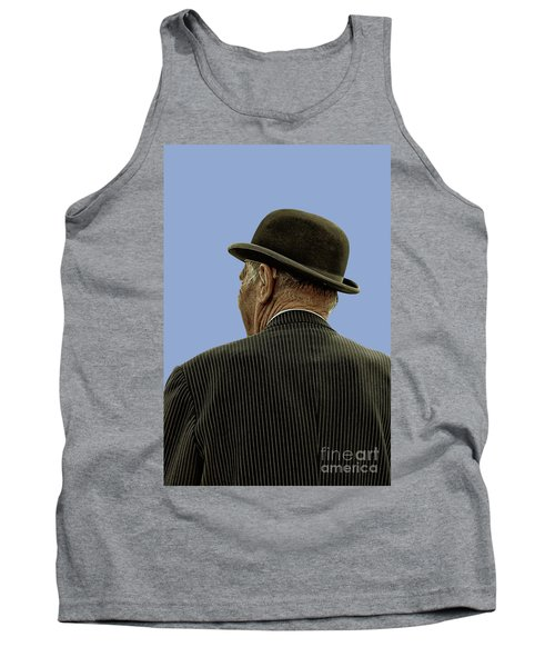 Man With A Bowler Hat Tank Top
