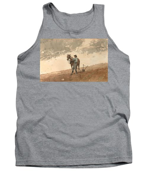 Man With Plow Horse Tank Top