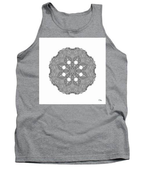 Mandala To Color Tank Top by Mo T