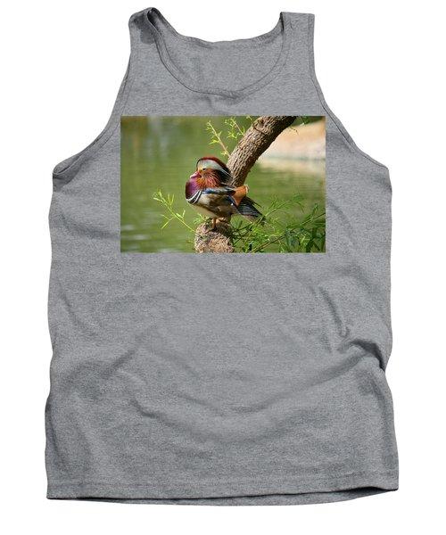 Mandarin Duck On Tree Tank Top