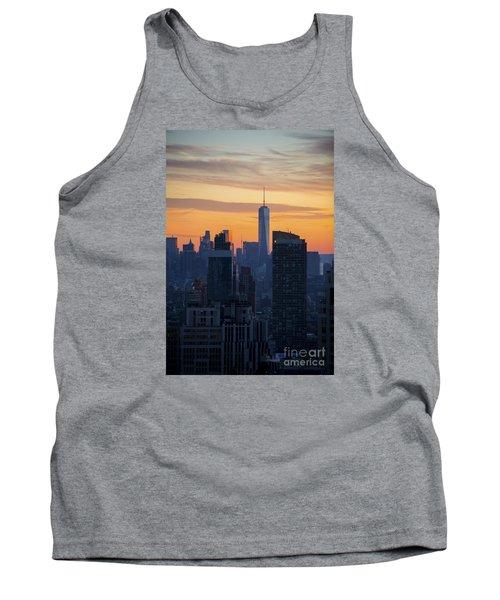 Manhattan Skyline At Dusk Tank Top by Diane Diederich