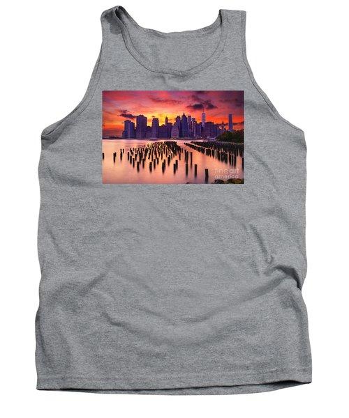 Manhattan Sunset Tank Top by Rima Biswas