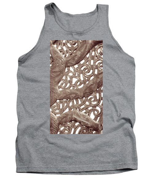Maori Abstract Tank Top by Denise Bird