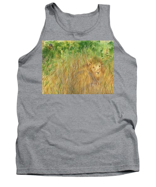 Tank Top featuring the painting Mara The Lioness by Vicki  Housel