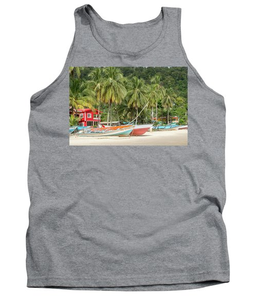 Tank Top featuring the photograph Maracas Fishing Village by Rachel Lee Young