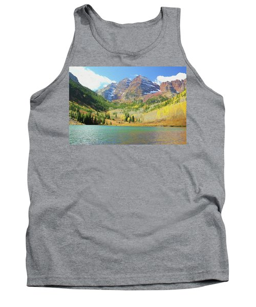 Tank Top featuring the photograph The Maroon Bells Reimagined 2 by Eric Glaser