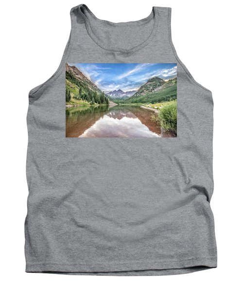 Tank Top featuring the photograph Maroon Bells Near Aspen, Colorado by Peter Ciro