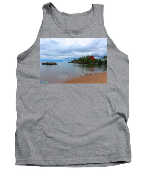 Marquette Harbor Lighthouse Tank Top