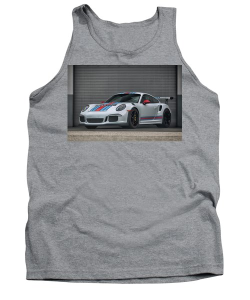 Tank Top featuring the photograph #martini #porsche 911 #gt3rs #print by ItzKirb Photography
