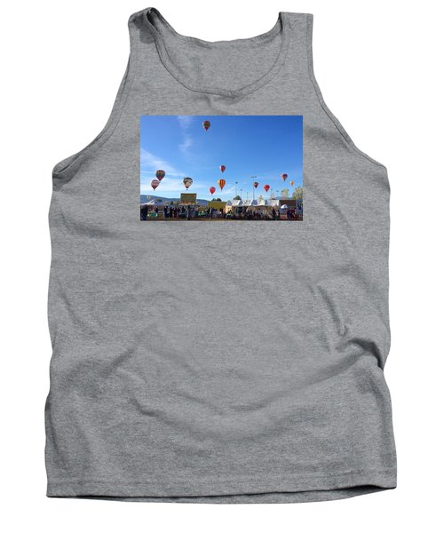 Tank Top featuring the photograph Mass Ascension Taos Balloon Festival by Brenda Pressnall