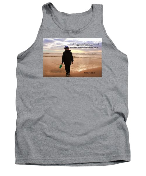 Tank Top featuring the photograph Matthew Eighteen Three by Aaron Berg