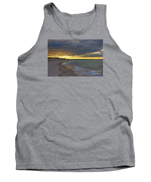 Tank Top featuring the photograph Mayflower Beach Walk by Amazing Jules