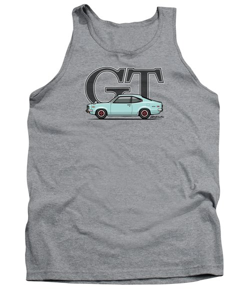 Mazda Savanna Gt Rx-3 Baby Blue Tank Top by Monkey Crisis On Mars