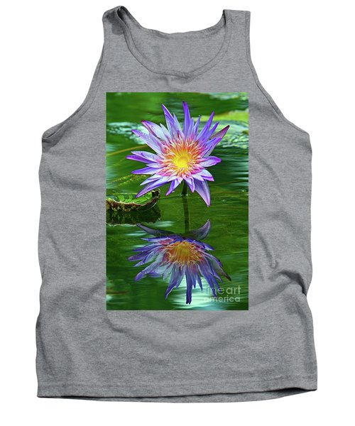 Mckee Water Lily Tank Top by Larry Nieland