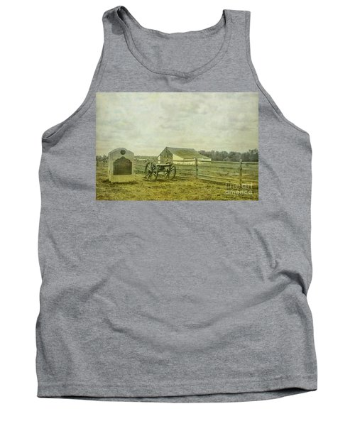 Mcpherson Barn And Cannon Gettysburg  Tank Top by Randy Steele