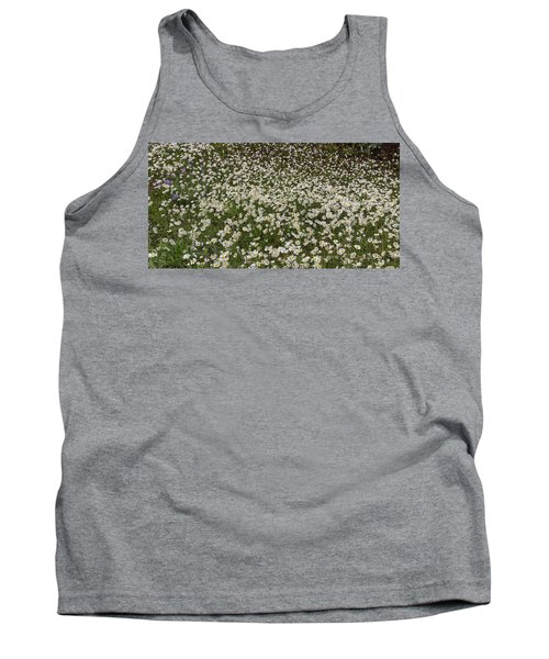 Tank Top featuring the photograph Meadow Of Daisey Wildflowers Panorama by James BO Insogna