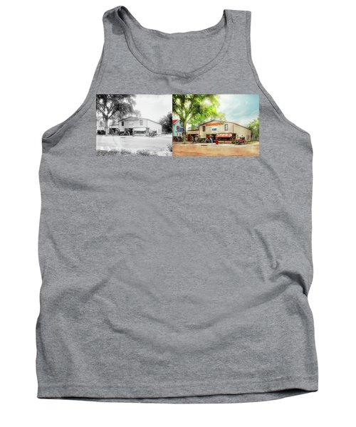 Tank Top featuring the photograph Mechanic - All Cars Finely Tuned 1920 - Side By Side by Mike Savad
