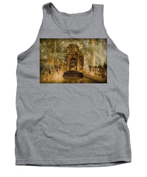 Paris, France - Medici Fountain Oldstyle Tank Top