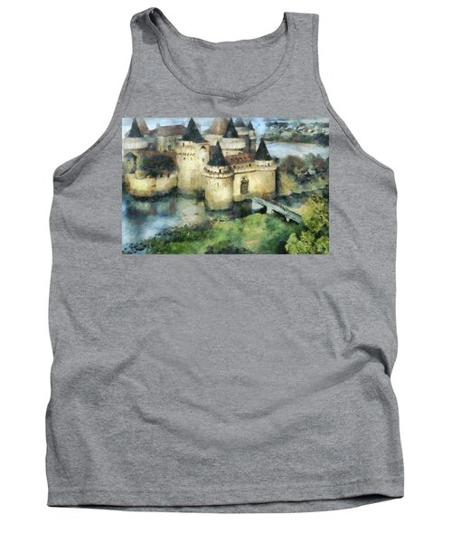 Medieval Knight's Castle Tank Top by Sergey Lukashin