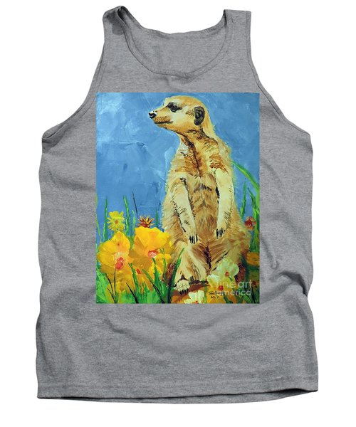 Tank Top featuring the painting Meerly Curious by Tom Riggs