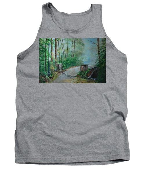 Tank Top featuring the painting Memory Bridge by Leslie Allen