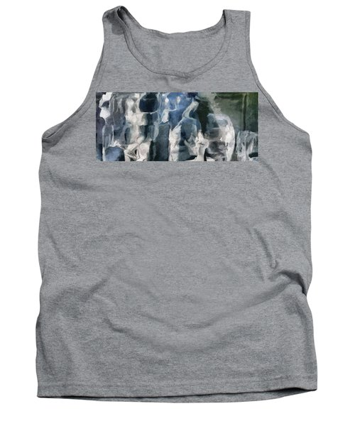 Memory Hotel - Dark Canvas Abstract Art Tank Top by Modern Art Prints