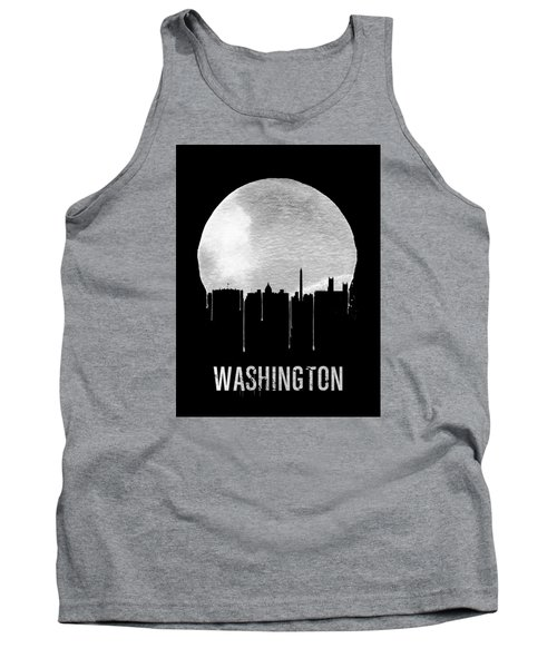 Memphis Skyline Black Tank Top by Naxart Studio