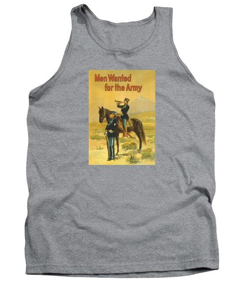 Men Wanted For The Army Tank Top by War Is Hell Store