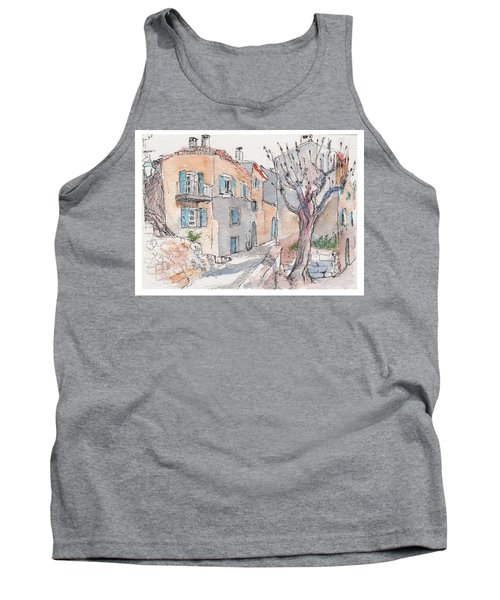 Tank Top featuring the painting Menerbes by Tilly Strauss