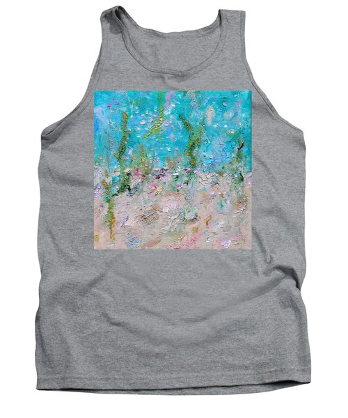 Tank Top featuring the painting Mermaid Meditation by Judith Rhue