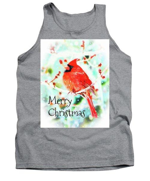 Merry Christmas Cardinal Tank Top