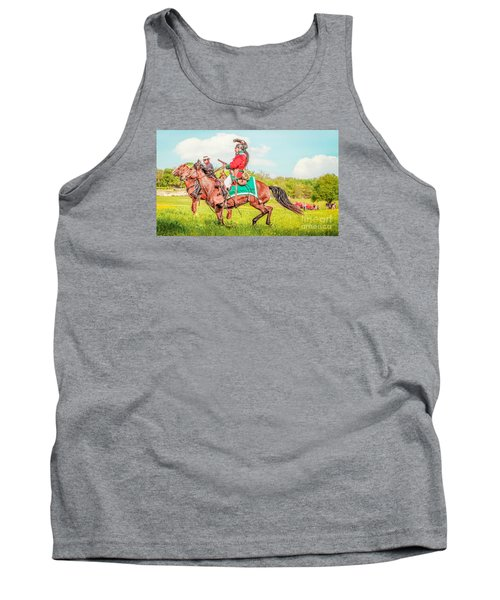 Mexican Horse Soldiers Tank Top by Kim Henderson