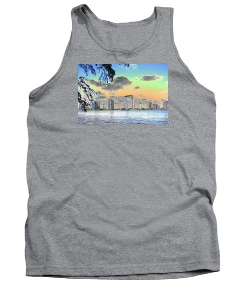 Miami Skyline Abstract Tank Top by Christiane Schulze Art And Photography