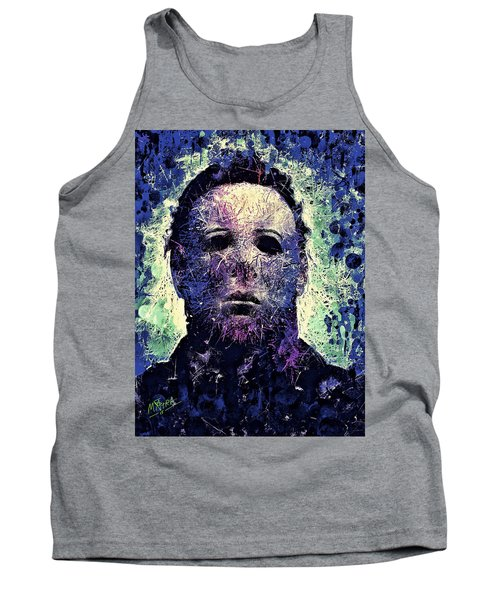 Tank Top featuring the mixed media Michael Myers by Al Matra