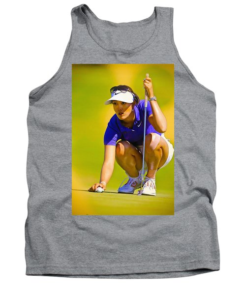 Michelle Wie Lines Up Her Putt  Tank Top
