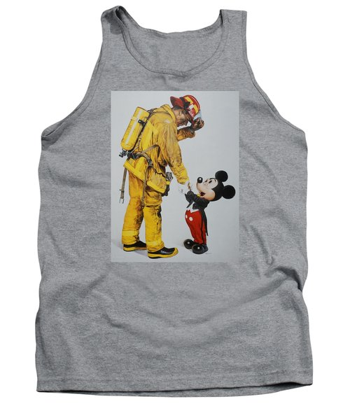 Mickey And The Bravest Tank Top by Rob Hans