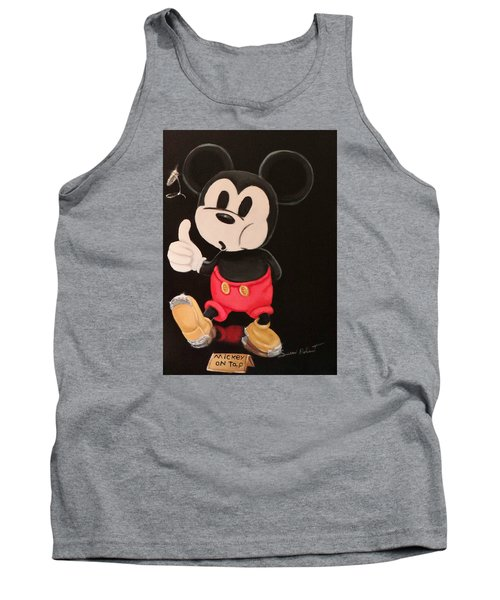 Tank Top featuring the painting Mickey On Tap by Susan Roberts