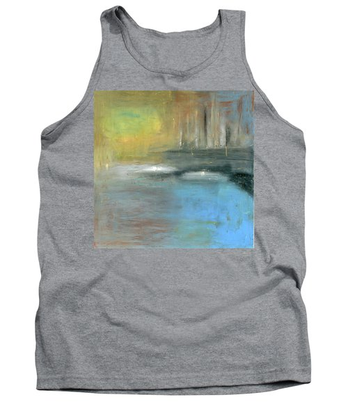 Tank Top featuring the painting Mid-summer Glow by Michal Mitak Mahgerefteh