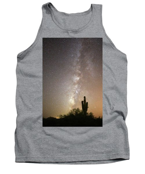 Milky Way And Saguaro Cactus Tank Top