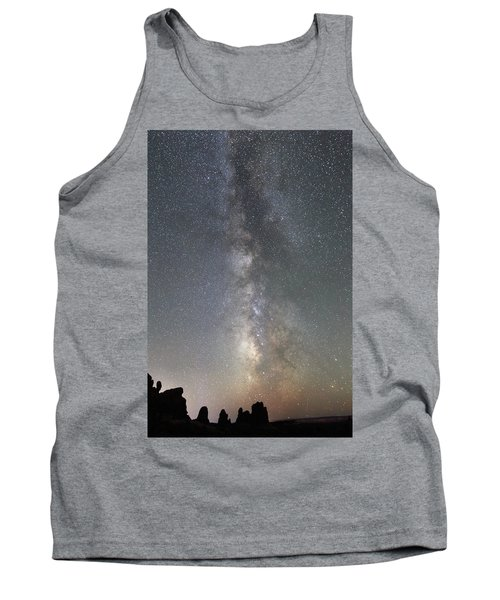 Milky Way Over Arches Np Two Tank Top