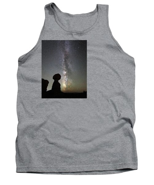 Milky Way Over Arches Np Three Tank Top
