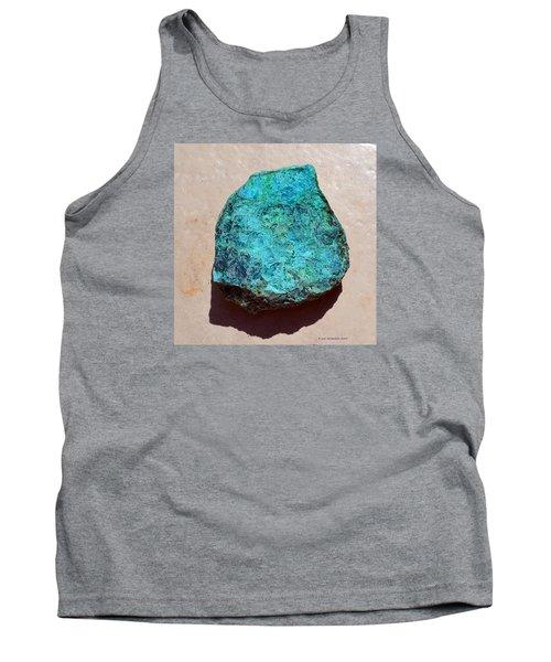 Mineral-chrysocolla Tank Top by Joan Hartenstein