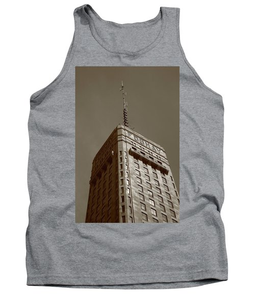 Tank Top featuring the photograph Minneapolis Tower 6 Sepia by Frank Romeo