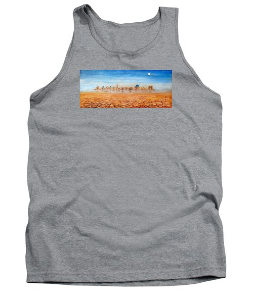 Tank Top featuring the painting Mirage City by Arturas Slapsys