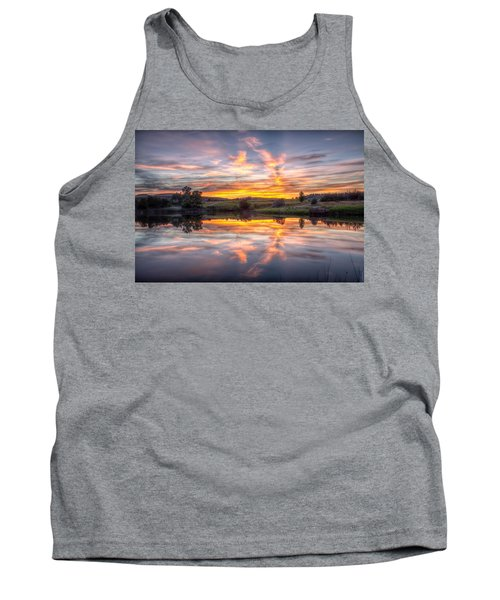 Mirror Lake Sunset Tank Top