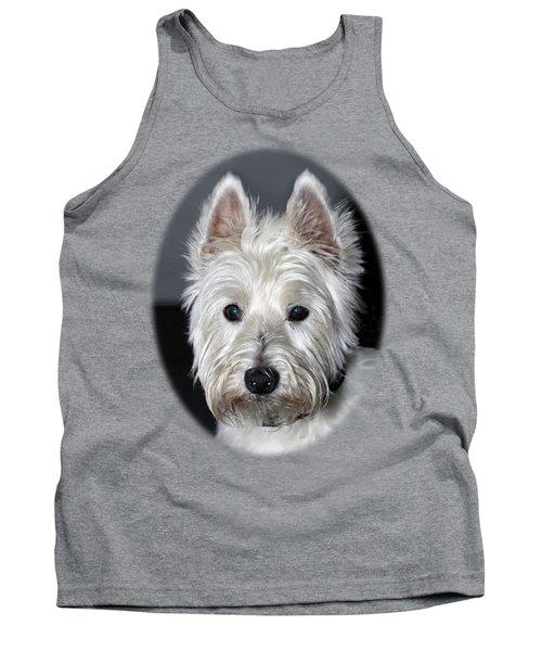 Mischievous Westie Dog Tank Top