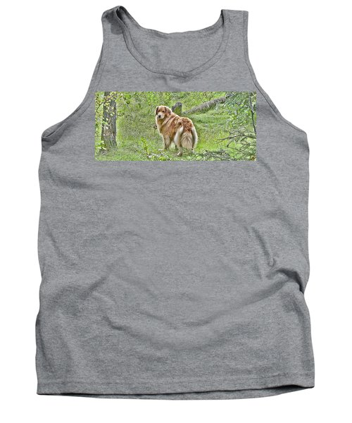 Tank Top featuring the photograph Miss B by Rhonda McDougall