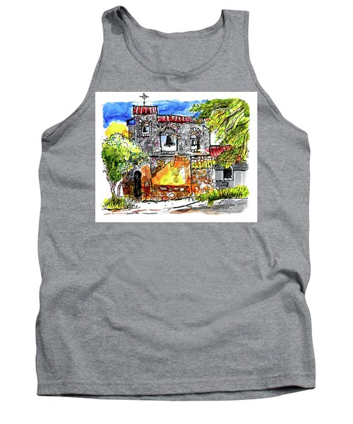 Tank Top featuring the painting Mission San Miguel by Terry Banderas