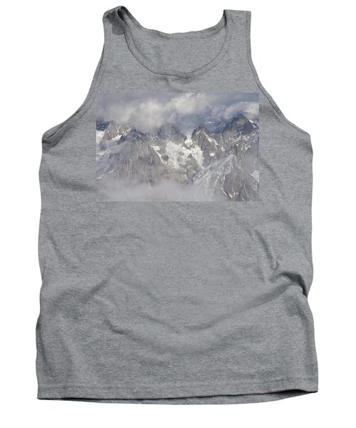 Mist And Clouds At Auiguille Du Midi Tank Top