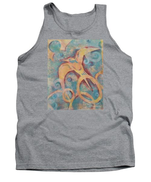 Tank Top featuring the painting Mistral's Messenger by Cynthia Lagoudakis